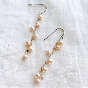 Authentic Pearl Cluster Pink Earrings
